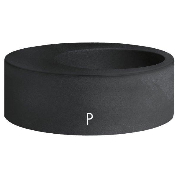 Кръгли кашпи в черен цвят