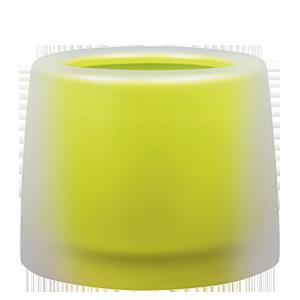 Жълти кръгли кашпи
