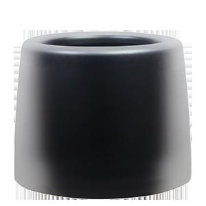 Черни кръгли кашпи