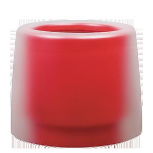 Червени кръгли кашпи