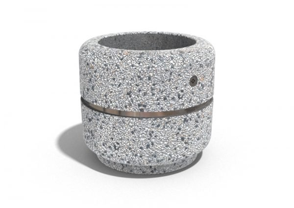 Encho - Кръгли бетонни кашпи